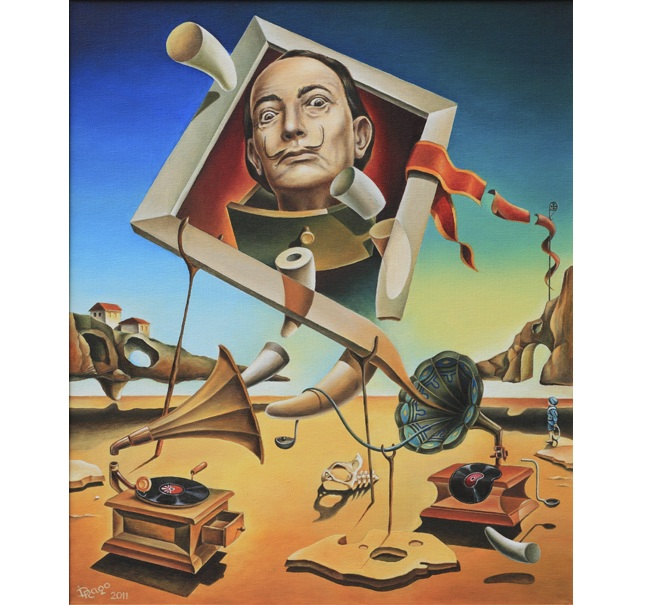 A surreal simulacrum of Salvador Dali **SOLD**