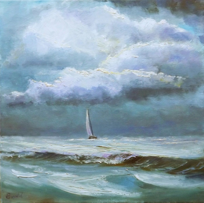 Boat in the Storm **SOLD**