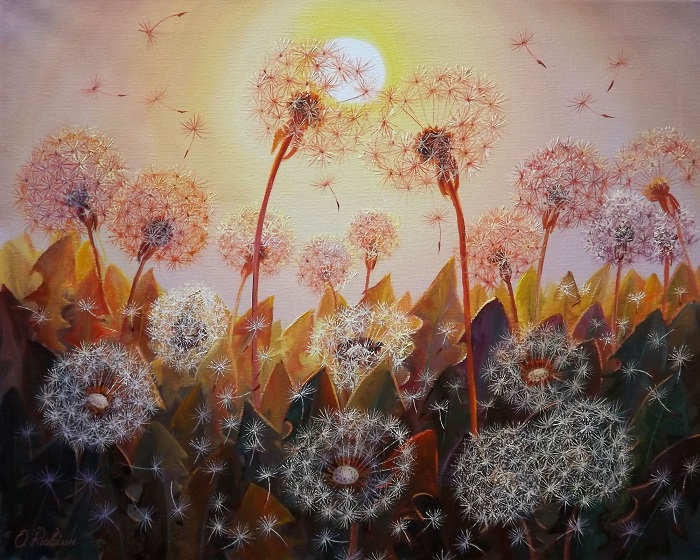 Dandelions in the Sun **SOLD**