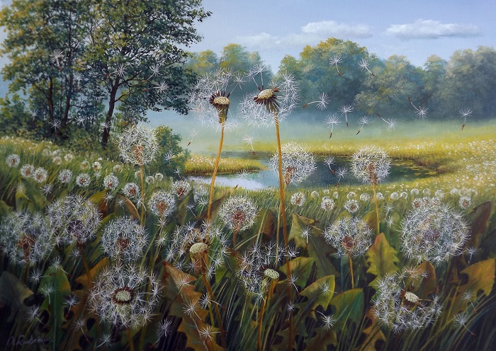 Dandelions by the lake **SOLD**