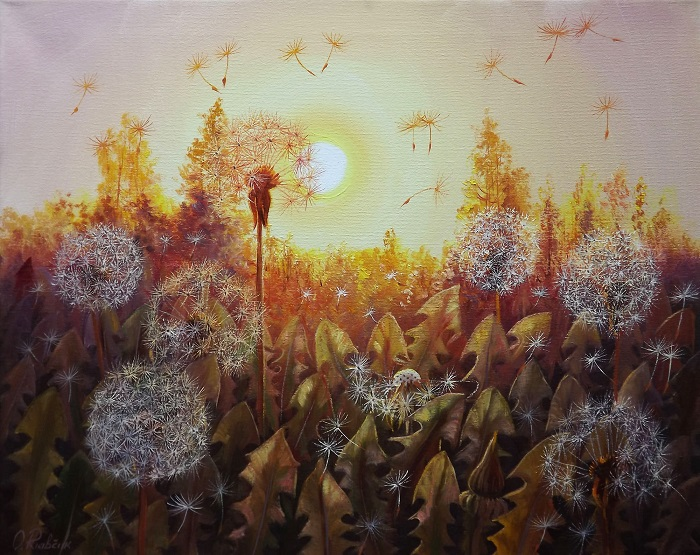 Dandelions in the Sun 2 **SOLD**