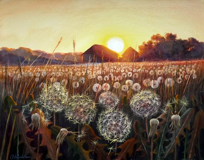 Field of Dandelions **SOLD**