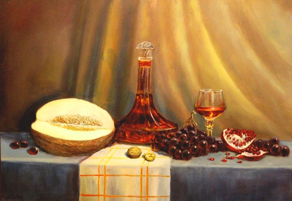 Still life with walnut **SOLD**