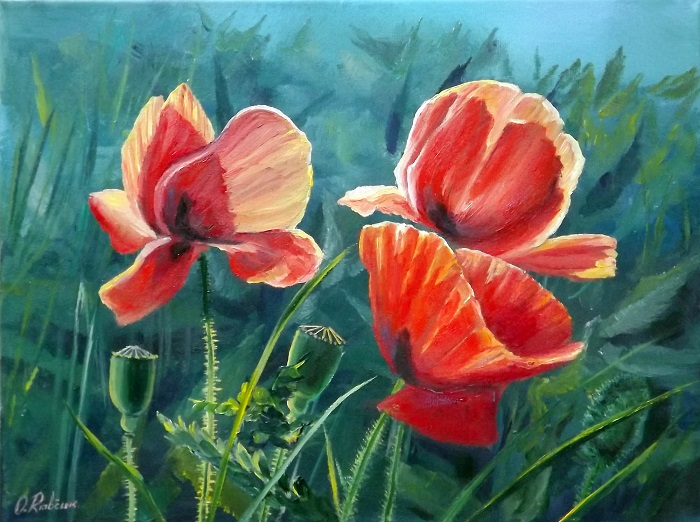 Poppies 2 **SOLD**