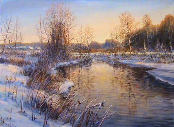 Winter evening **SOLD**