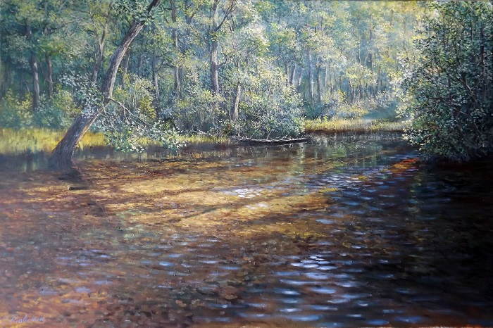 River on a sunny day **SOLD**
