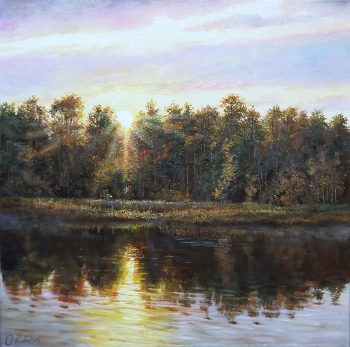 Sunrise over the River **SOLD**