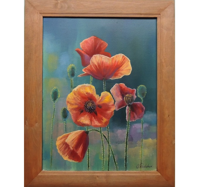 Cheerful Poppies **SOLD**