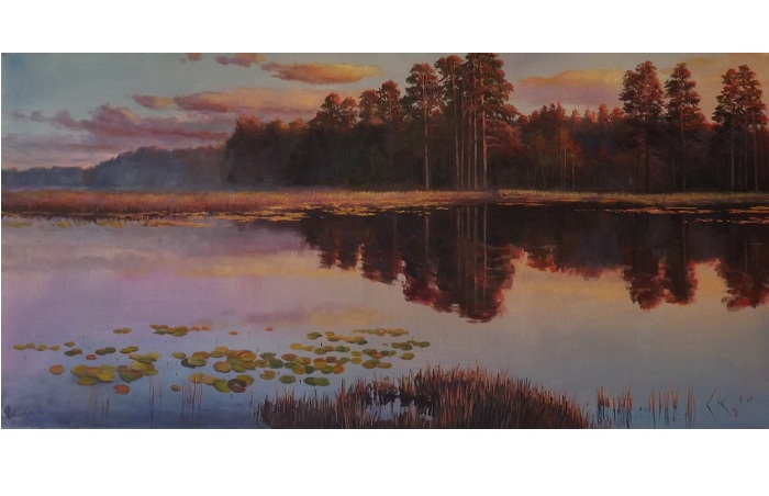 Fog on lake **SOLD**