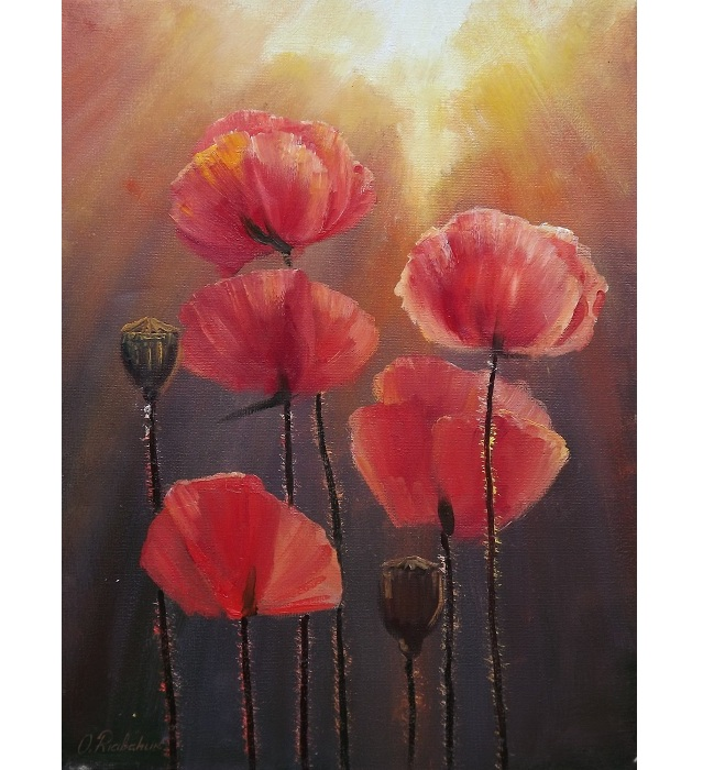Red Poppies **SOLD**