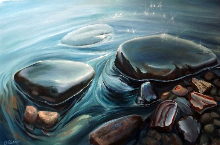 Rocks Under Gentle Water **SOLD**