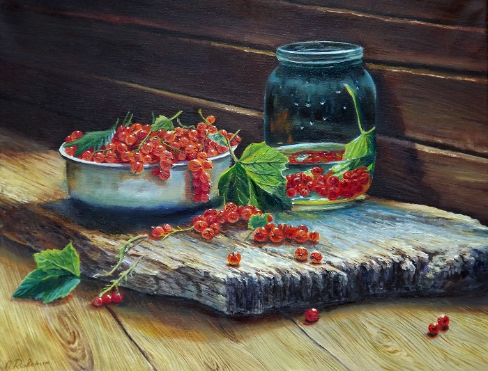 Still Life with Red Currants **SOLD**