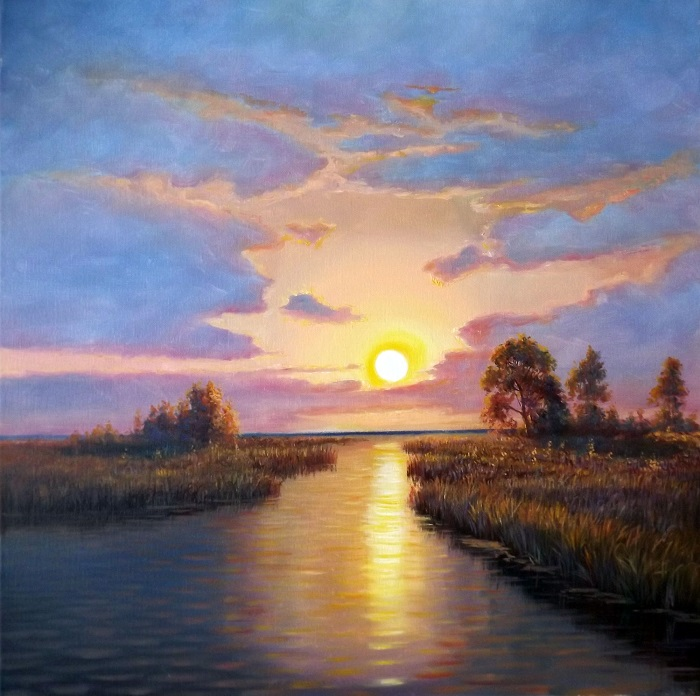 Sunrise over River **SOLD**